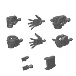 Builders Parts HD 1/144 MS Hand (E.F.S.F) Dark Gray
