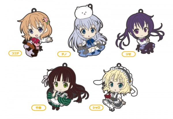 Nendoroid Plus: Is the Order a Rabbit?Cocoa / Chino / Rize / Chiya / Syaro Rubber Straps