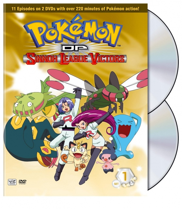 Pokemon movie on DVD: Sinnoh League Victors - Set One 2 discs