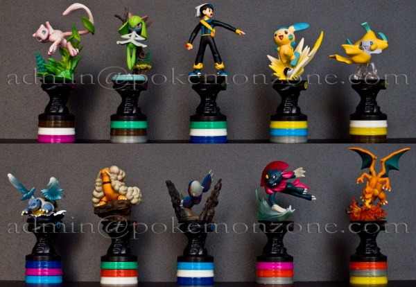 Pokemon Set of 10 on Checker Rotating Base