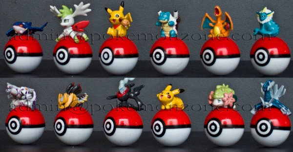 Pokemon on Pokeballs 12 PCS