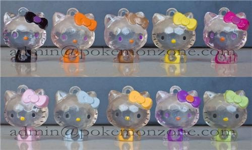10 Hello-Kitty Clear Figurines