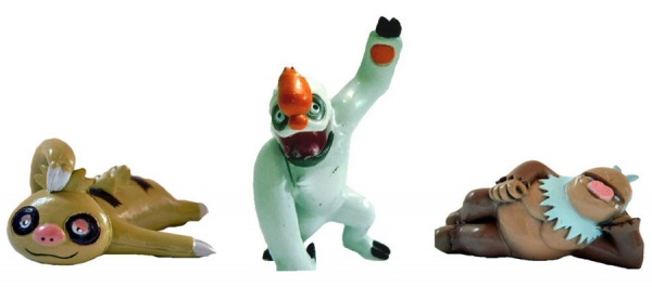 Pokemon Figures -  Slakoth Vigoroth Slaking