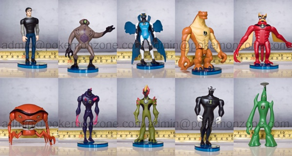 Lot 10 Pcs Ben 10 Alien Force Action Figures