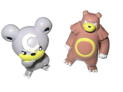 Pokemon Action Figures - Teddiursa & Ursaring