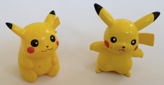 Pokemon Action Figures - Two Pikachu Figures #1 & #6