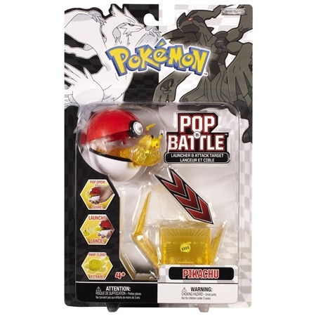 "Pikachu - Pokemon Pop ""n Battle Launcher With Attack Target Black and White Series #1"