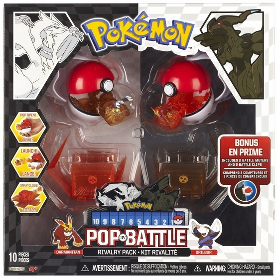 Pop and Battle Rivalry Pack 2 - Darmanitan vs Drilbur