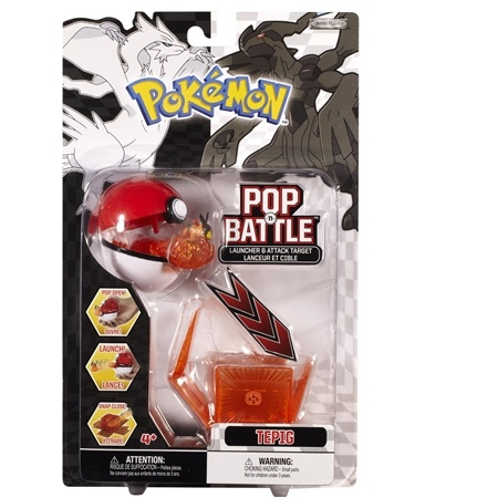 "Tepig - Pokemon Pop ""n Battle Launcher With Attack Target Black and White Series #1"