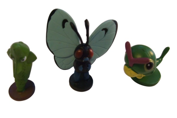 Pokemon Action Figures - Caterpie Metapod Butterfree