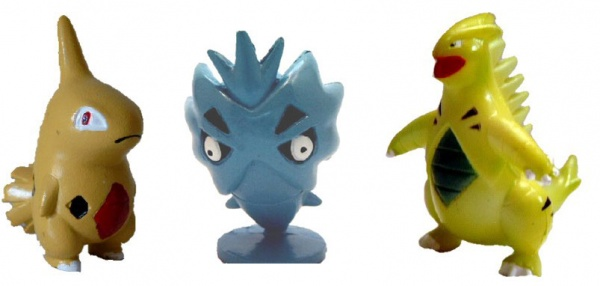 Pokemon Action Figures - Larvitar Pupitar Tyranitar