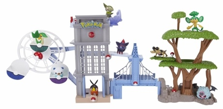 Unova Region Black And White Playset